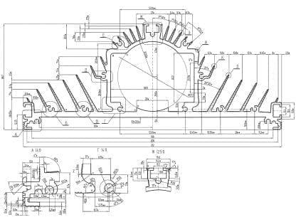technische Zeichnung SVETOCH MAGISTRAL