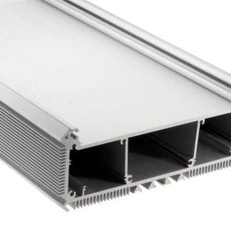 LED aluminum profile SVETOCH NEW for industrial LED lighting with large surface area for mounting high-performance LED modules