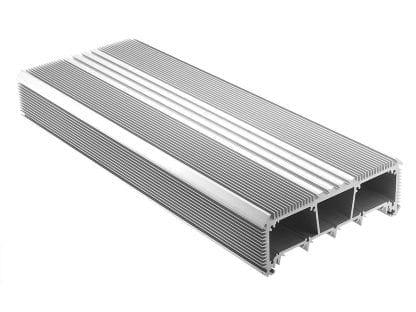 LED Kühlkörper Aluminiumprofil SVETOCH mit Führungsschienen für LED Streifen, Schutzscheibe und Befestigung an Wand und Decke