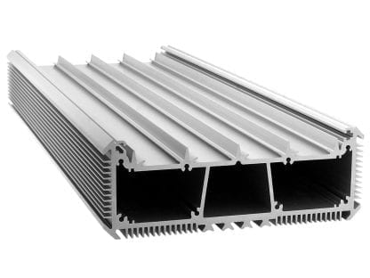 LED Kühlkörper Aluminiumprofil SVETOCH mit Führungsschienen für LED Streifen, Schutzscheibe und Befestigung an Wand und Decke mit Kühlrippen zur Wärmeableitung