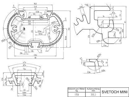 21-SV-MN-2_1 SVETOCH MINI LED-Profil-Gewerbe-Industrie