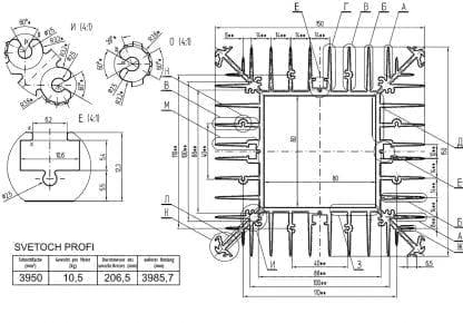 technische Zeichnung SVETOCH PROFI