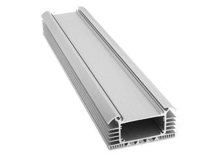 Perfil de aluminio LED de sección transversal SVETOCH UNIVERSE PLANE para iluminación LED en la industria y el comercio