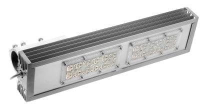 LED-Leuchte aus dem Aluminumprofil der Serie SVETOCH STRADA Rohrbefestigung, LED Modulen und 2x6 LEDIL Linsen