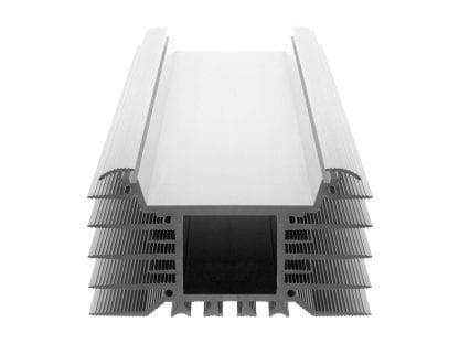 Kühlkörper Aluminiumprofil SVETOCH INDUSTRY als Komponente für LED Leuchten für den Einsatz von breiten LED Modulen bei Industrie-, Gewerbe- und Hallenbeleuchtung im Bereich Indoor und Outdoor