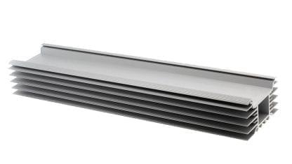 Kühlkörper Aluprofil SVETOCH INDUSTRY als Komponente für LED Leuchten für den Einsatz von breiten LED Modulen bei Industrie-, Gewerbe-, Wohn- und Hallen-Anlagen im Bereich Indoor und Outdoor.