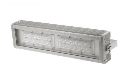 LED Leuchte aus LED Aluminium Profil der Serie SVETOCH INDUSTRY mit 2x6 LEDIL Linsen (Optiken)