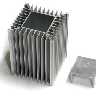 Aluminum profile SVETOCH PROFI for heat dissipation up to 600 W / m with module carrier which can be pressed with variable depth into the module.