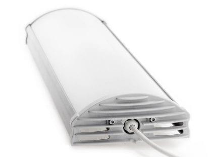 LED Leuchte aus LED Aluminiumprofil SVETOCH ARCTIC mit Endkappe, matter Schutzscheibe und PG7 mit Kabel