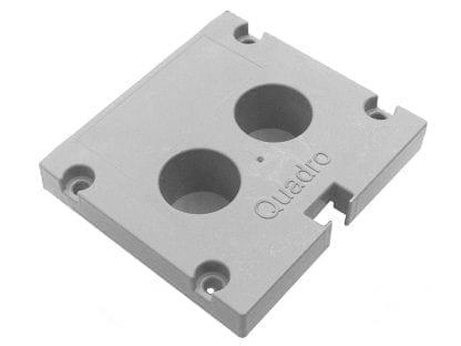 Tappo terminale profilo SVETOCH quadro per profili in alluminio per luci LED