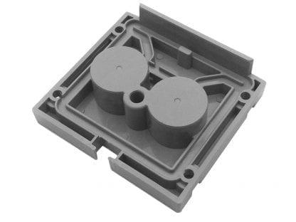 Tappo terminale profilo SVETOCH quadro (interno) con possibilità di impermeabilizzazione fino a IP67 per profili in alluminio per luci LED