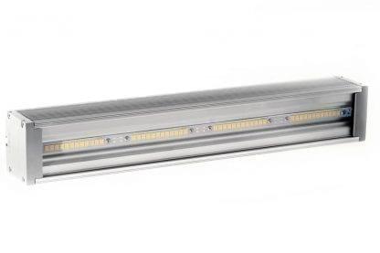 Esempio di applicazione lampada LED con strisce LED per officine e industria dai componenti della serie SVETOCH QUADRO