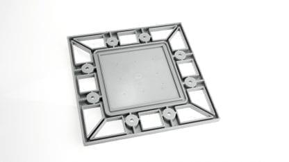 Profil-Endkappe PROFI für Aluminium High-Power-Kühlkörper SVETOCH PROFI mit Aussparung für LED Module und LED Optiken-Linsen